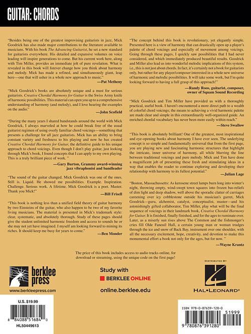 Creative Chordal Harmony For Guitar Berklee Press